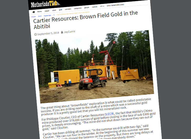 Cartier Resources: Brown Field Gold in Abitibi