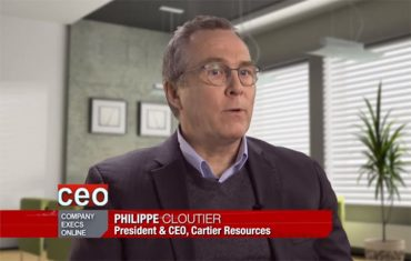 CEO Clips – 30 sec Profile of Cartier Resources