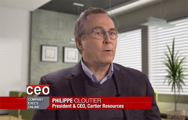 CEO Clips – 90 Second Profile of Cartier Resources