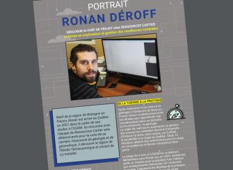 L'INMQ dresse le profil de Ronan Deroff, géo. Ressources Cartier.