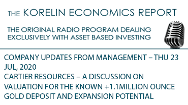 'Cartier Resources – Valuation: 1.1+ Moz Gold Deposit + Expansion Potential' – Korelin Economics Report