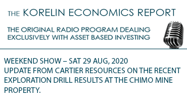 'Update from Cartier Resources on the recent exploration drill results at the Chimo Mine Property' – Korelin Economics Report