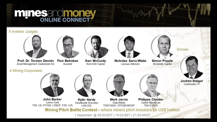CEO Philippe Cloutier wins Mines and Money 'Mining Pitch Battle'
